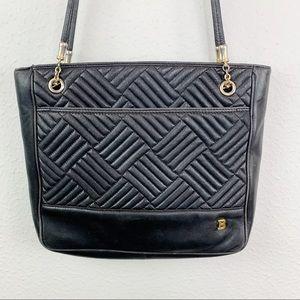 Bally Black Quilted Leather Shoulder Bag H1